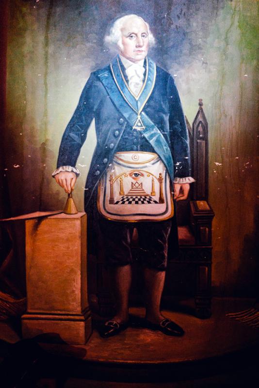 George Washington in Mason apron