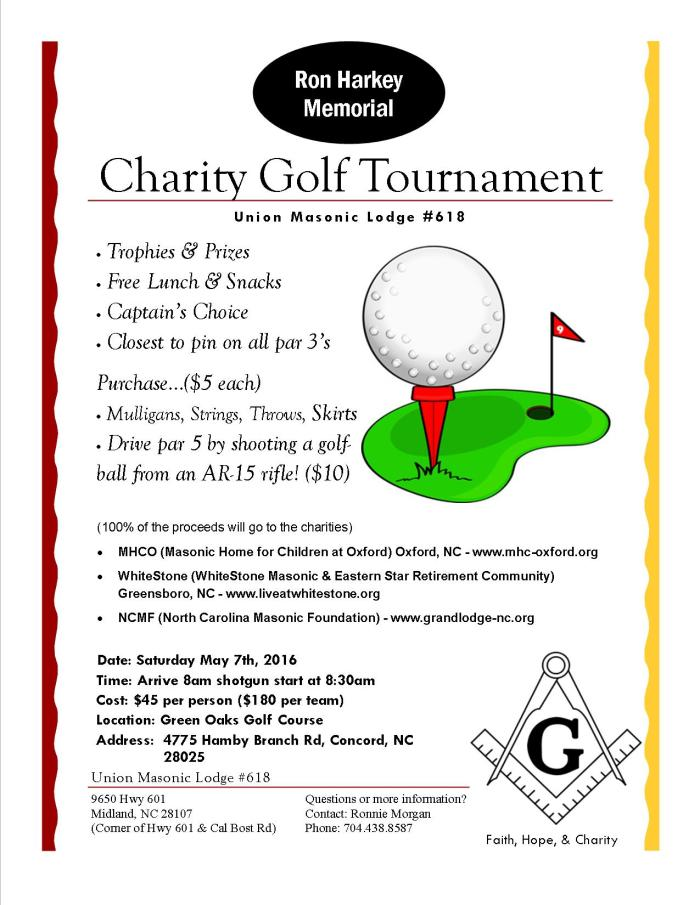 Lodge Golf Tournament Flyer 2016