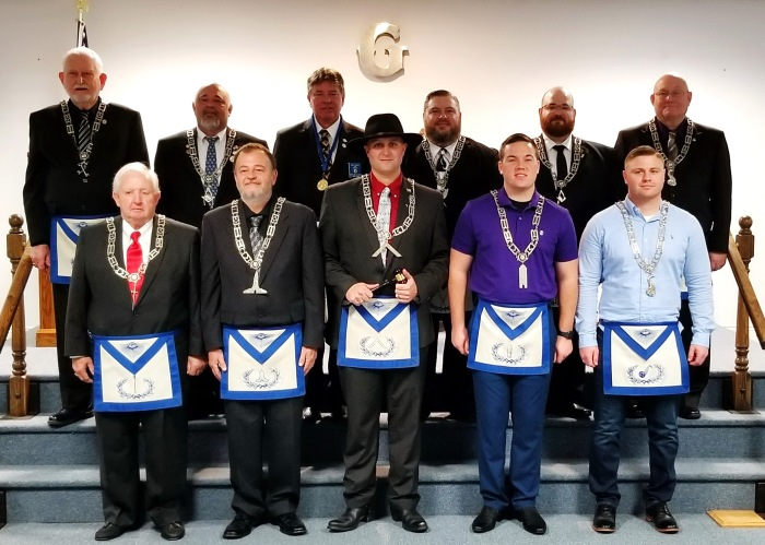 Union Lodge #618 Installation of Officers for 2020